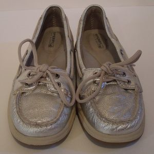 Sperry Top Sider Womens Size 6M Silver Shoes